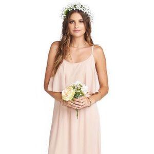 Show Me Your Mumu Caitlin Dress Dusty Blush Crisp